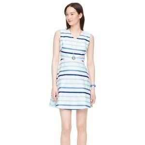 Kate Spade Blue Ombre Stripe A-line Dress